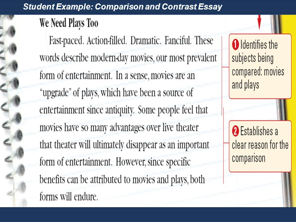comparison and contrast essay what is comparison and contrast 7 student example comparison and contrast essay
