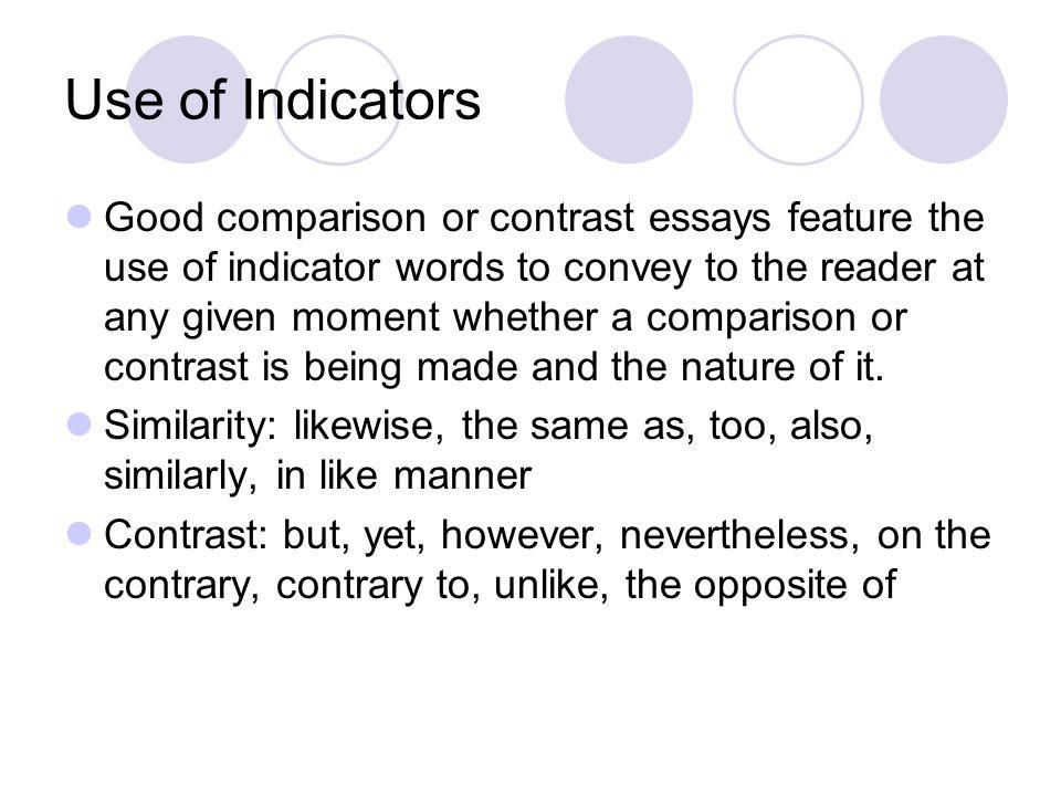 Comparison & Contrast Essay?