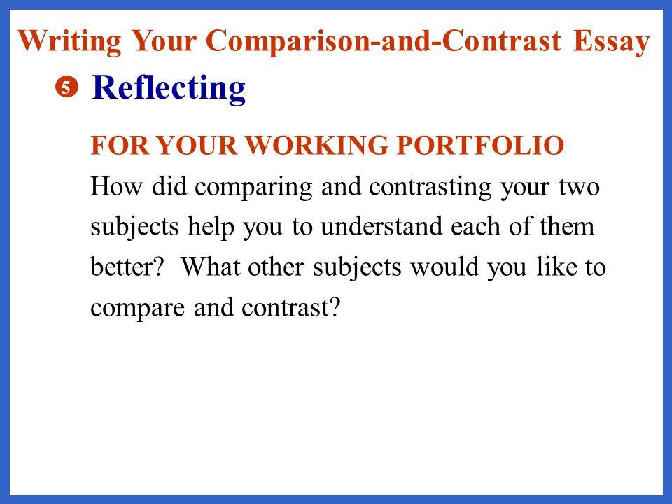 help writing comparison contrast essay