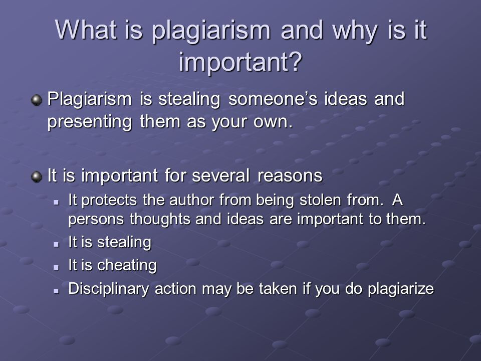Is copying a definition plagiarism?