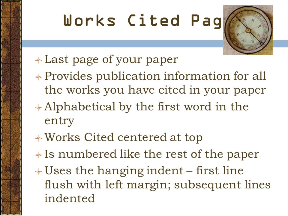 do works cited research paper Simply study several free research papers, with a works cited page every free research paper is meant to be used only as a visual aid and example.