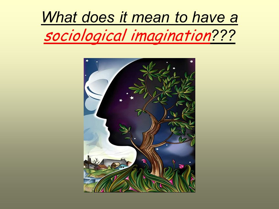What does it mean to have a sociological imagination ???