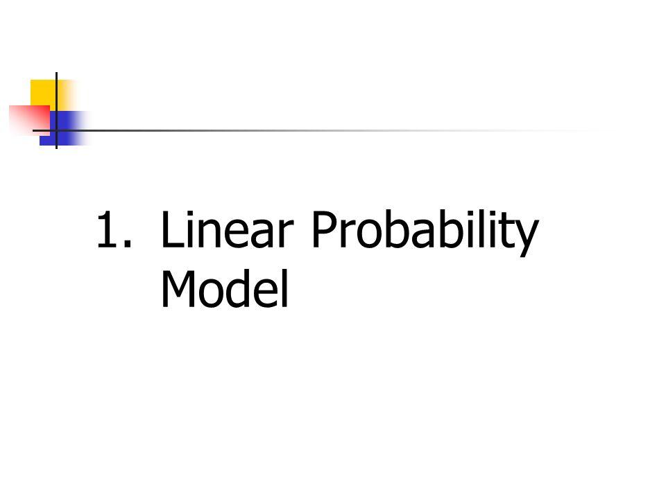 1. Linear Probability Model