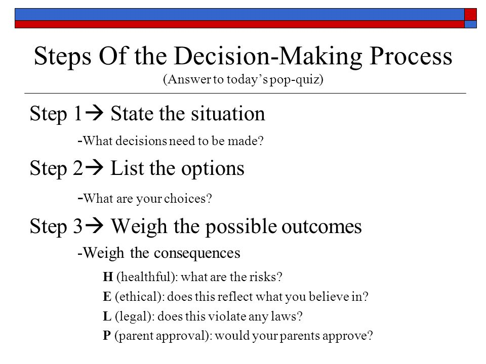 8 steps decision making process Essays - largest database of quality sample essays and research papers on 8 steps of decision making process.