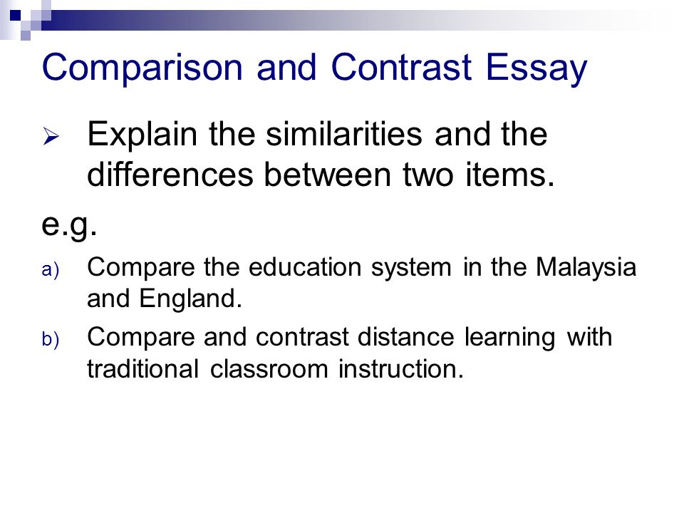 comparison essay between two people