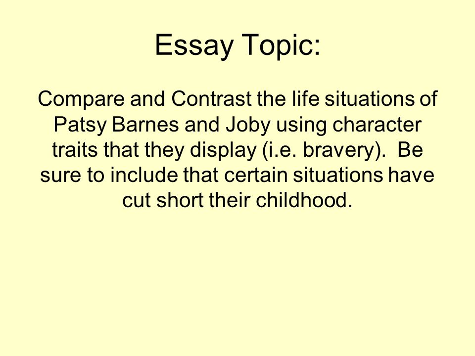 comparison and contrast essay topic Compare and contrast essays compare and contrast essay topics see the subsequent topic guidelines on your comparison essay this should give you an concept and.