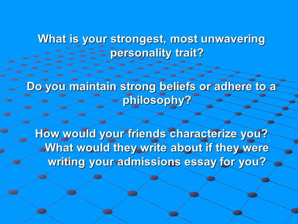What would I write in a essay about your adherence to philosophy?