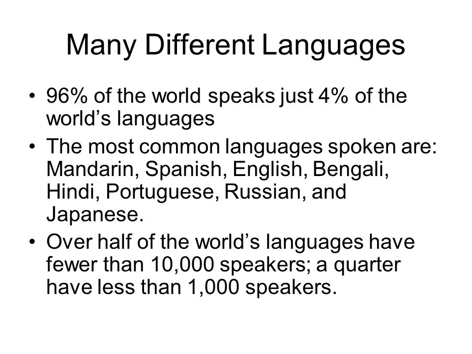 Language And Ways Of Speaking Many Different Languages Of The - Common languages in the world