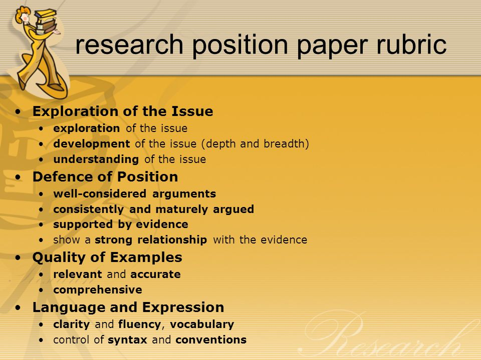 Research position paper