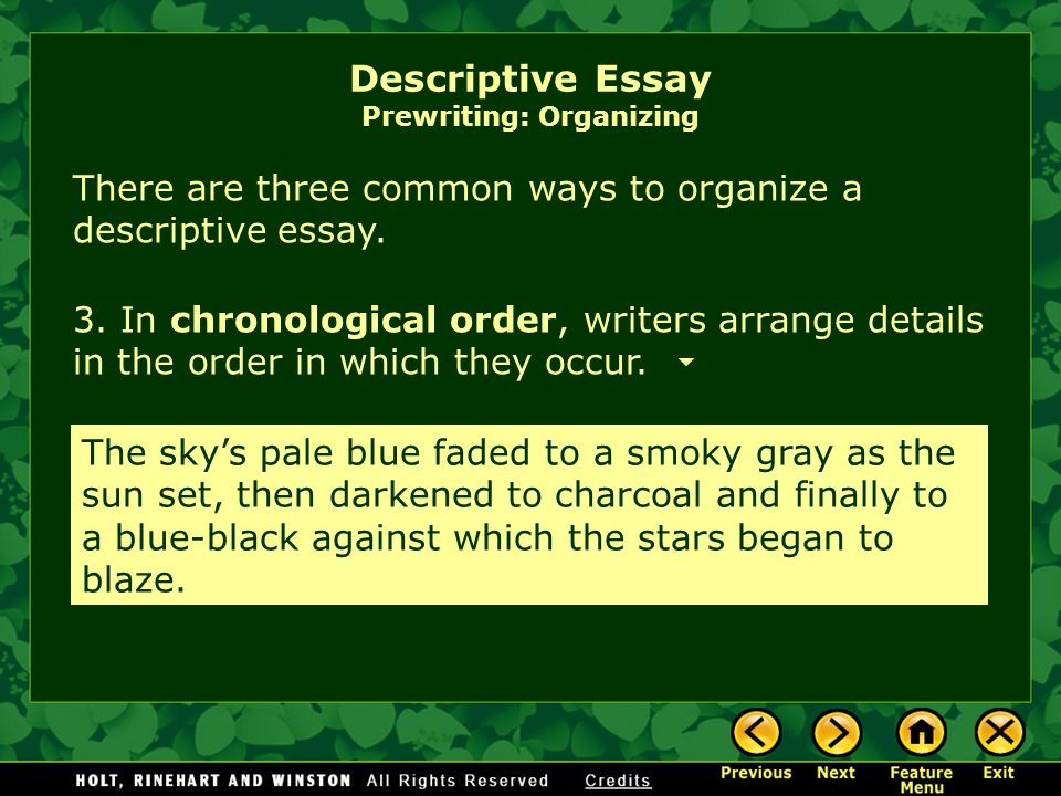 ways to organize an essay For example, there are hundreds of ways to organize a kitchen organizing an essay reorganizing your draft parts of an essay back to.