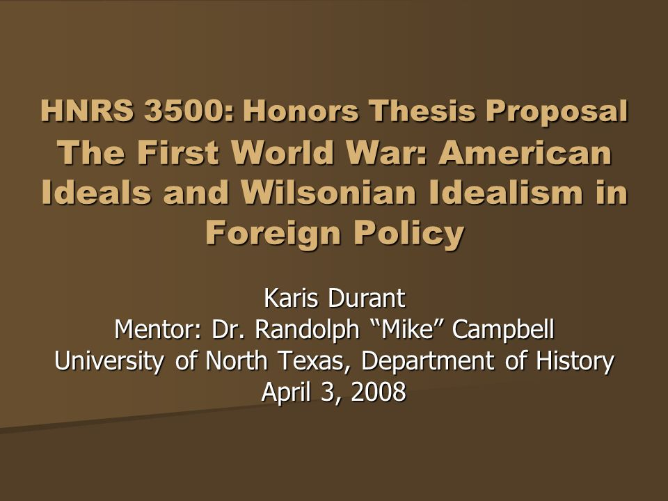 history thesis proposal The proposal, approved by the supervisor, should be forwarded to the director of undergraduate term course) ¨ independent senior thesis history hist c 4998 (spring term course.