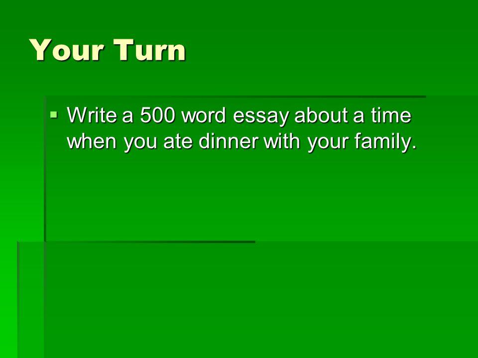 describe your family essay
