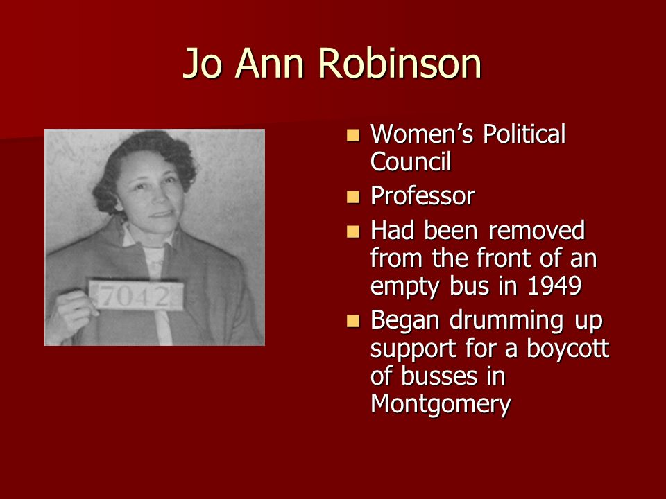 a comparison of bus boycotts by jo ann robinson and bullet or ballot by malcolm x The montgomery bus boycott - the people i hold rosa parks and jo ann robinson were individual women whose but others such as a malcolm x led more violent.