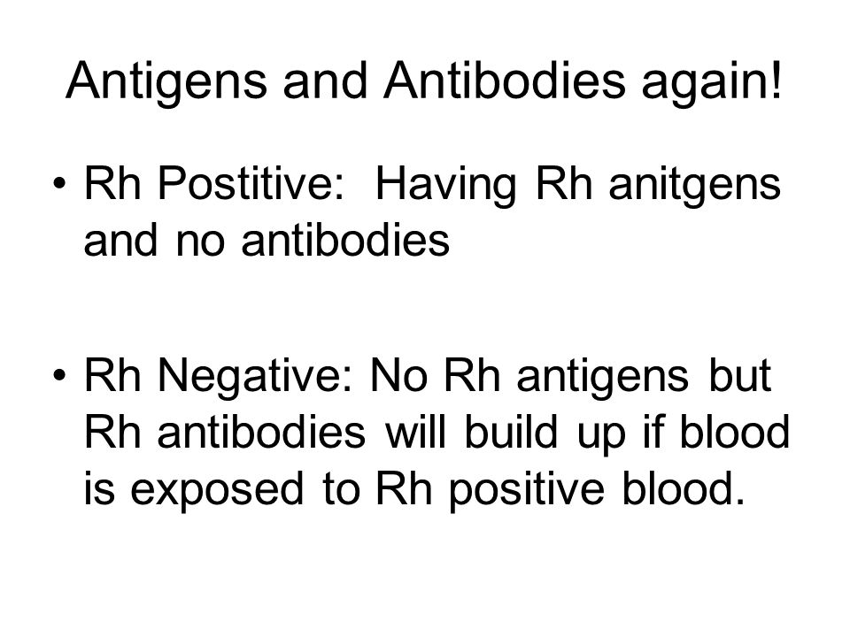 Antigens and Antibodies again.