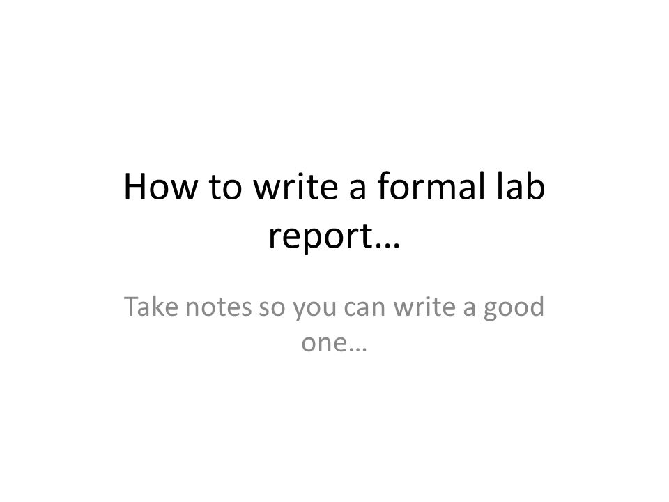 Physics Lab Report Format - Columbia
