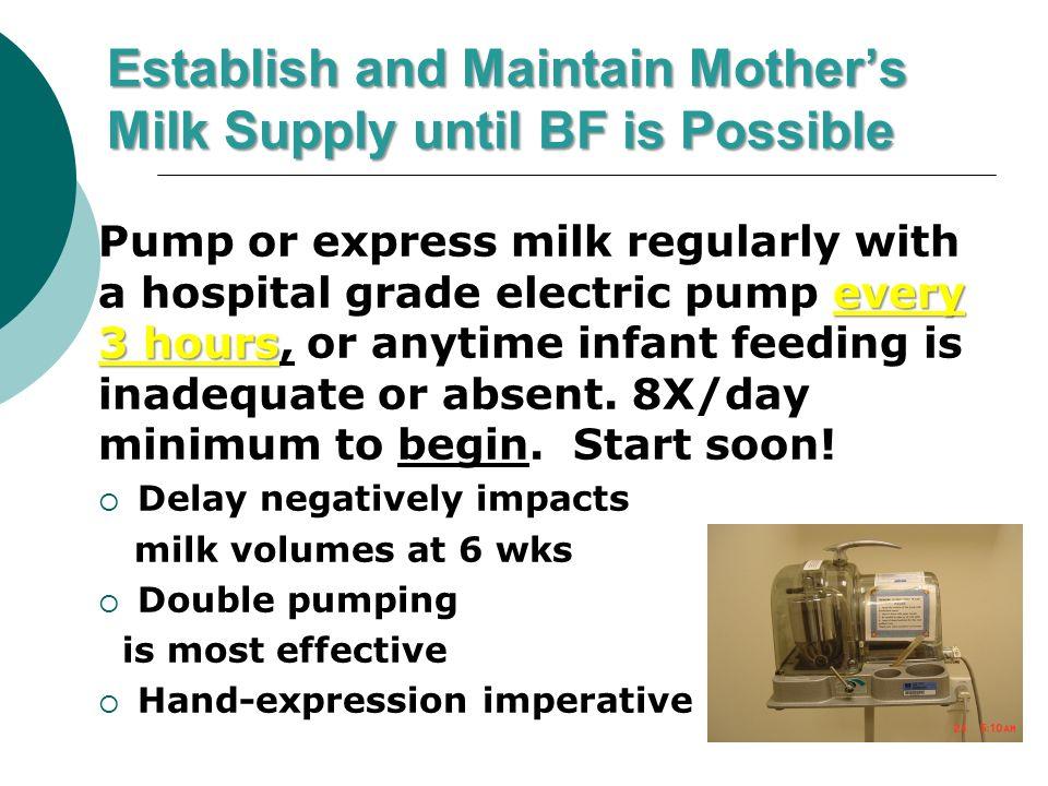 hand express milk