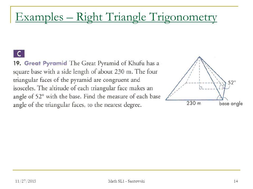 Precalculus Santowski 1 Lesson 26 Review Of Right Triangle