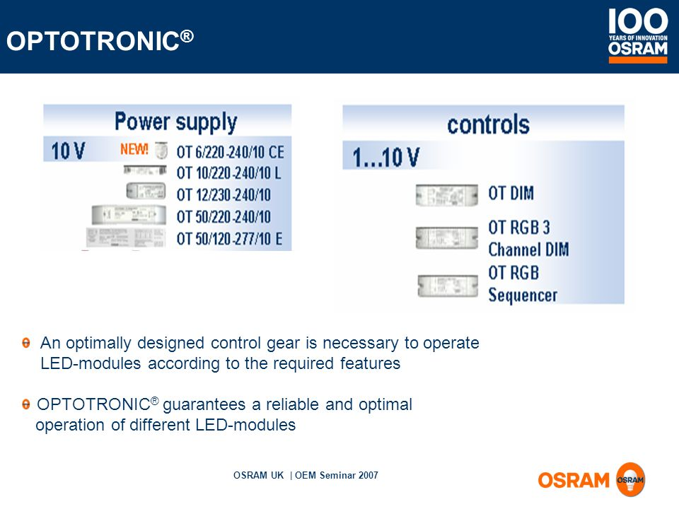 slide_11 osram uk oem seminar 2007 led why such interest? with the osram optotronic ot dim wiring diagram at gsmportal.co