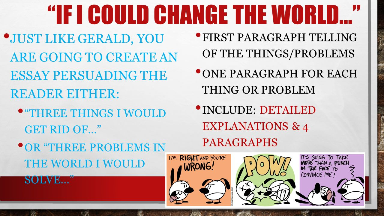 change could essay i if world com change could essay i if world
