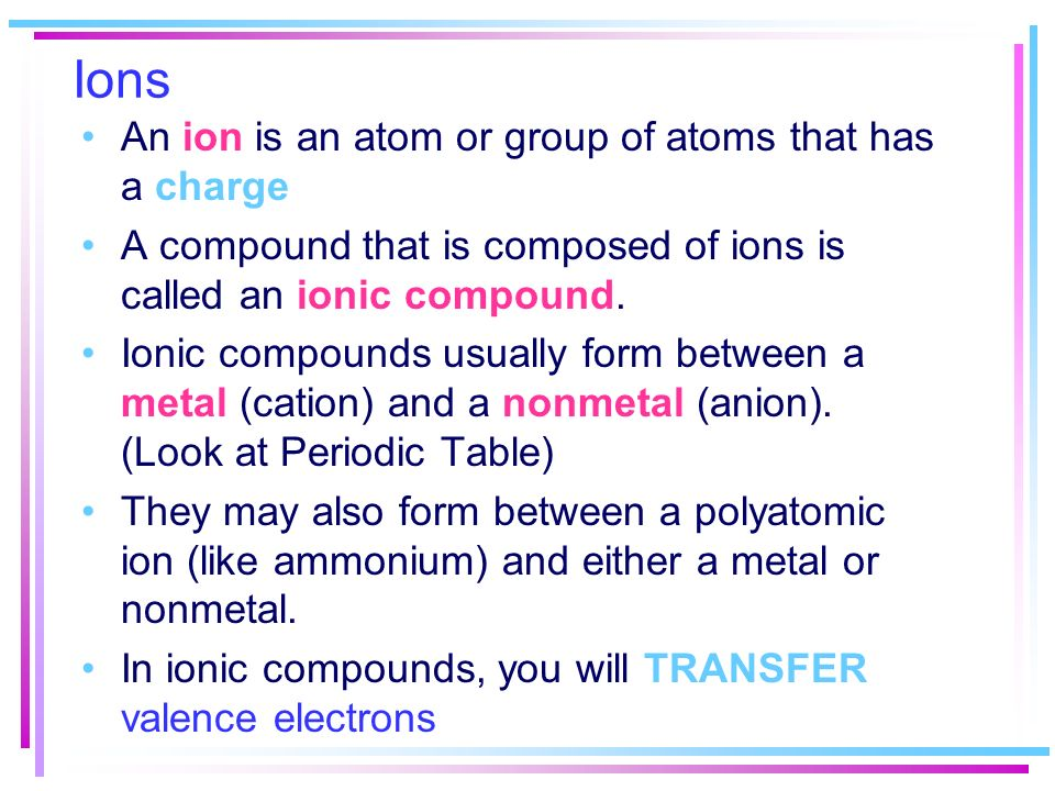 Chemical Symbols and formulas What do we need to know in order to ...