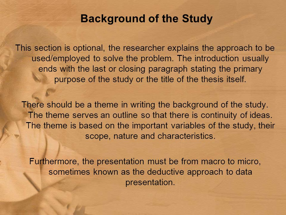 Introduction for thesis essay