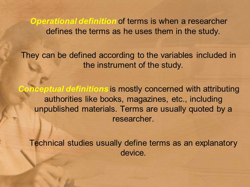 terms and definitions on the research paper Definitions of terms is what you use in your work/ research depending on the subject there are specific terms and anagrams that are used in the body of a research paper is the largest part of the paper thebody is where you present your evidence in a way to persuadereaders to agree with your.