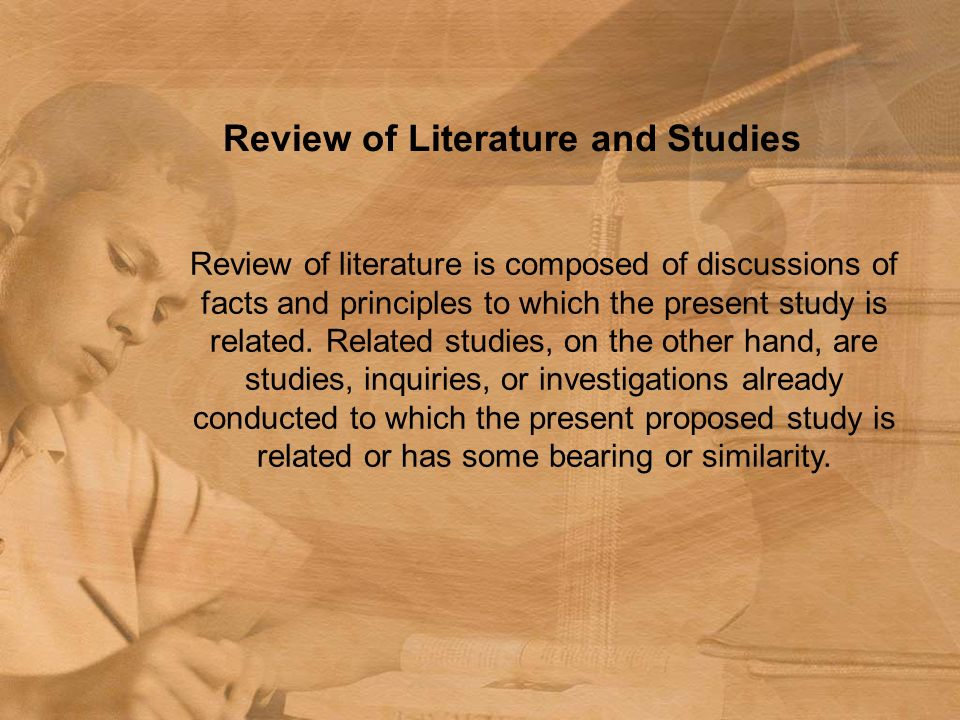 Review Related Literature Thesis