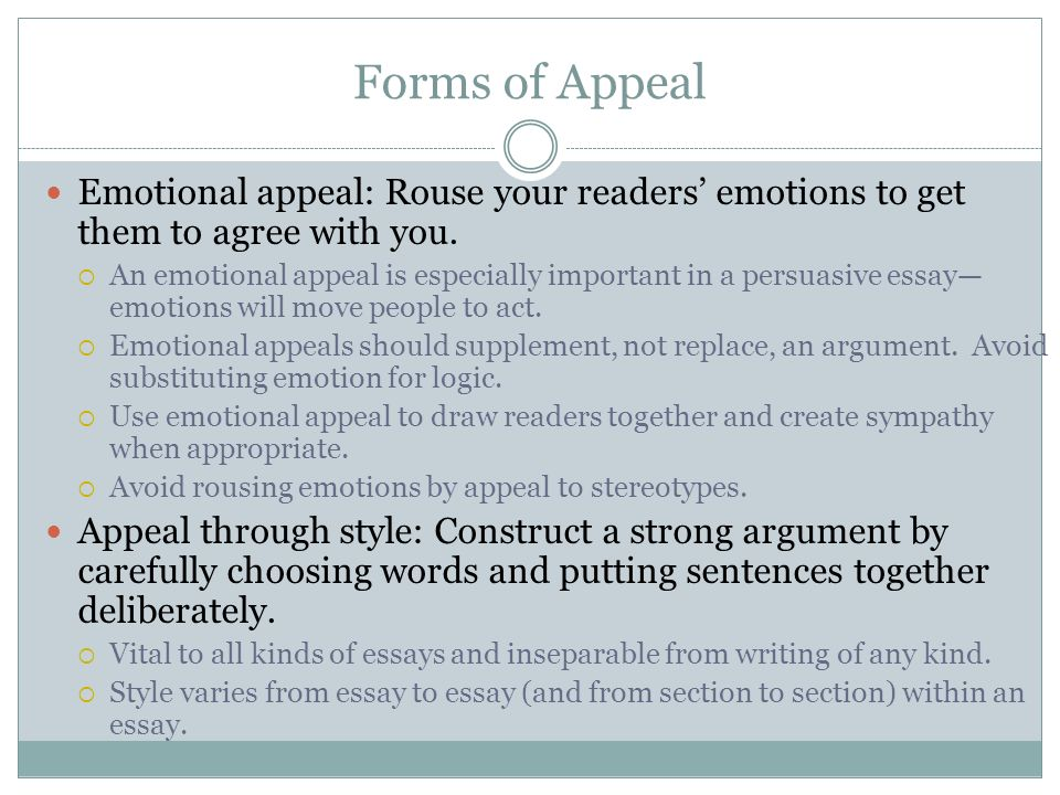 ms olson writing an academic essay types of essays inquiry  forms of appeal emotional appeal rouse your readers emotions to get them to agree