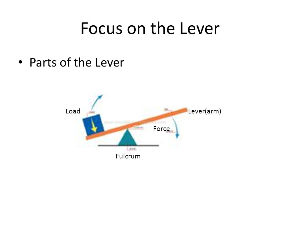 The Power to Lift Levers and Fulcrums Education 356 Professor ...