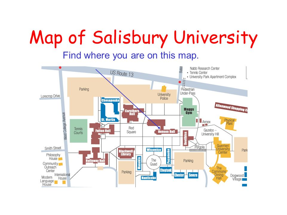 Salisbury University Map. Important Visitor Parking Information With ...