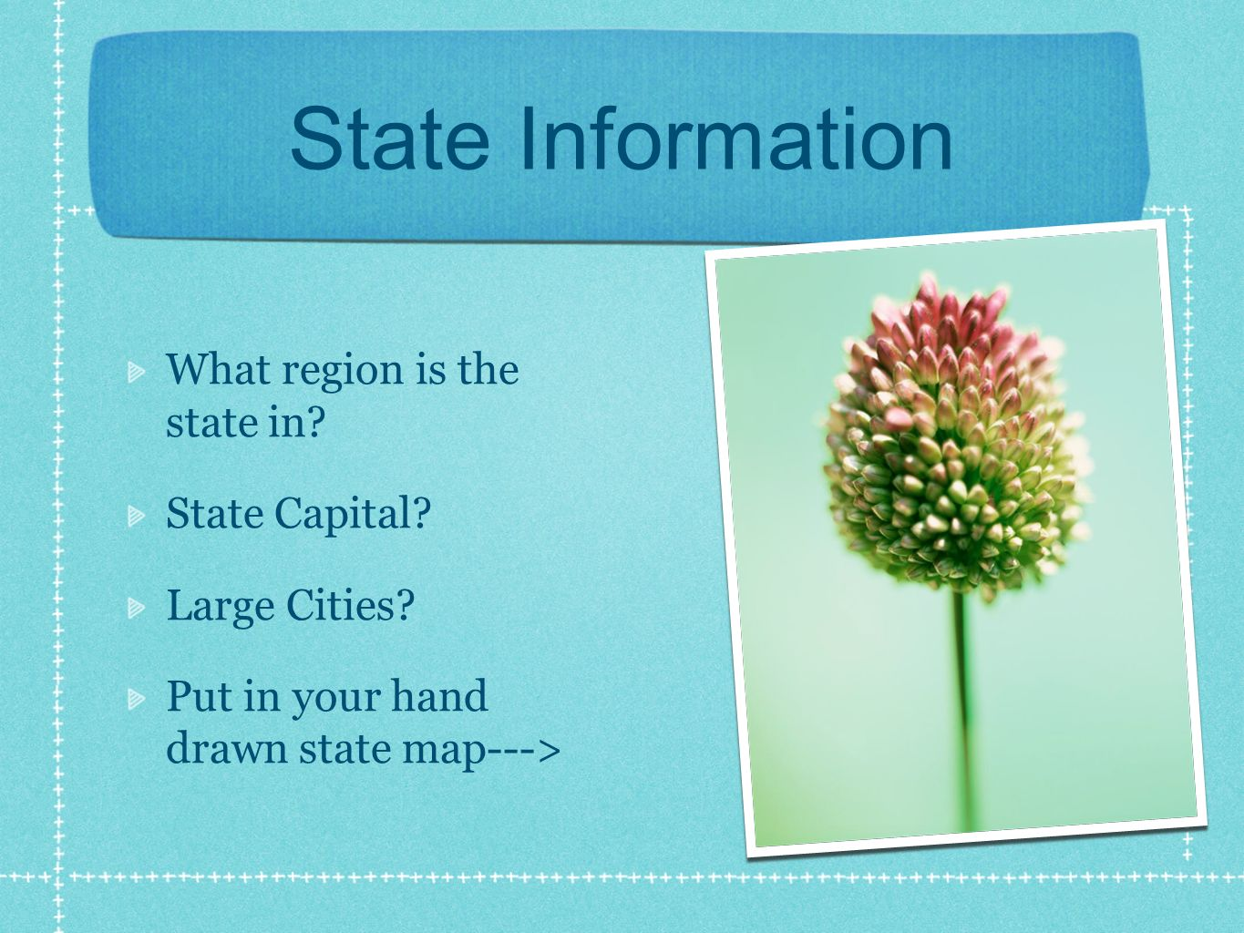 State Information What region is the state in. State Capital.