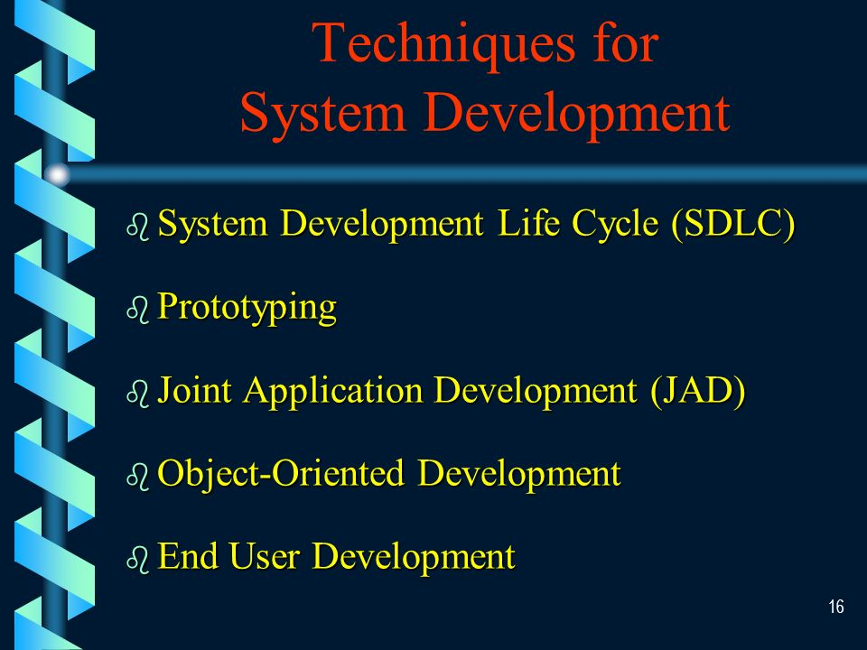 15 To reduce these difficulties, several techniques are adopted to control the system development effort