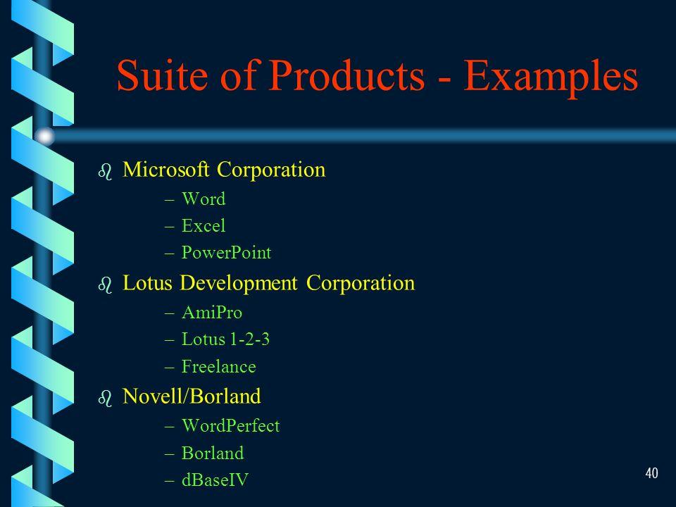 39 Software Evaluation Efficiency Flexibility Security Language Documentation Hardware Other Factors Software Evaluation Factors Software Evaluation Factors