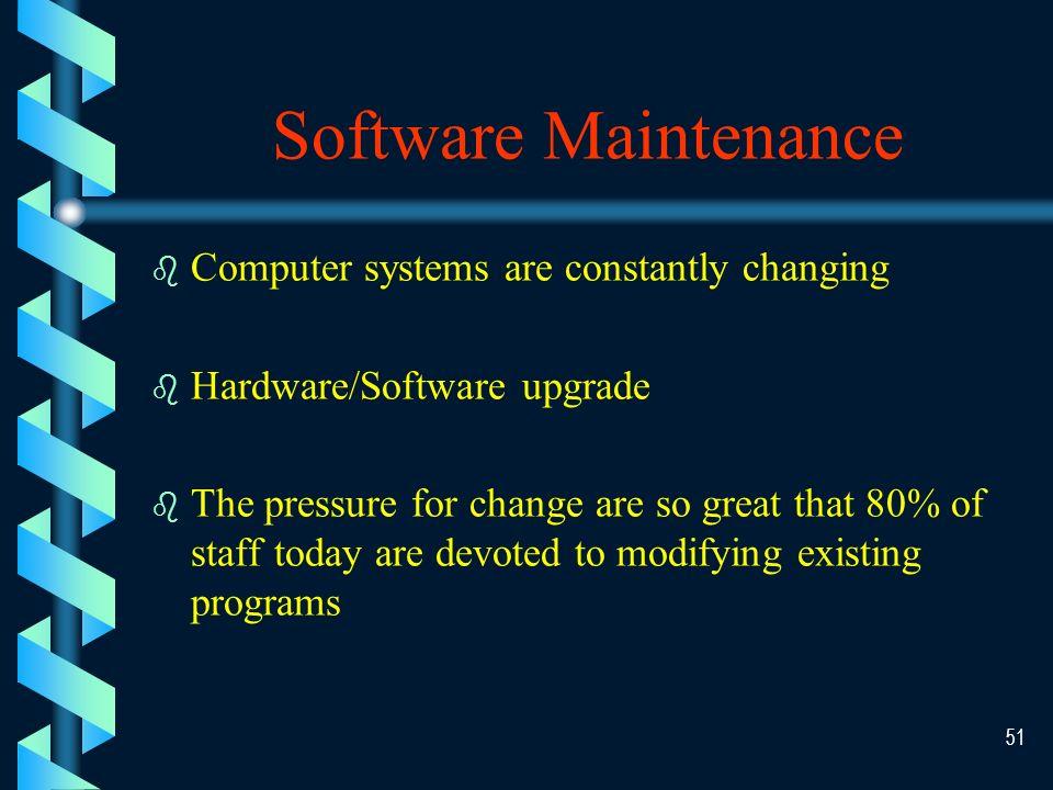 50 Phase V System Maintenance