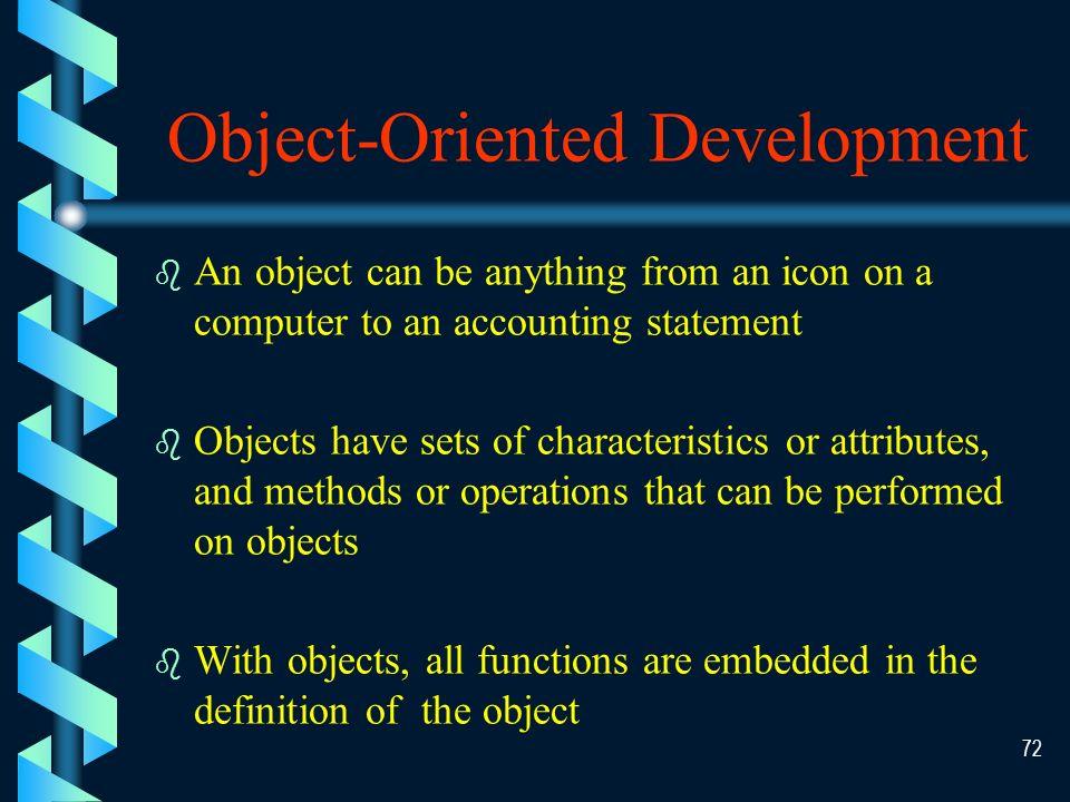 71 Object-Oriented Development