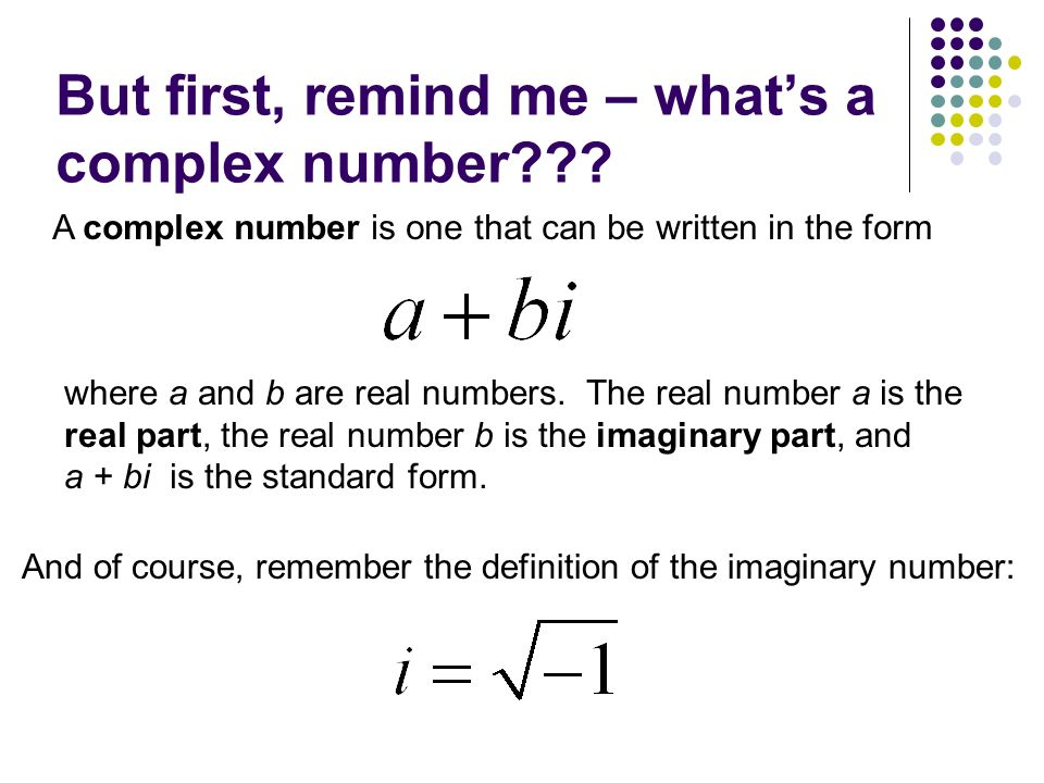 Trigonometric Form Of Complex Numbers 66a The First Stuff In Our