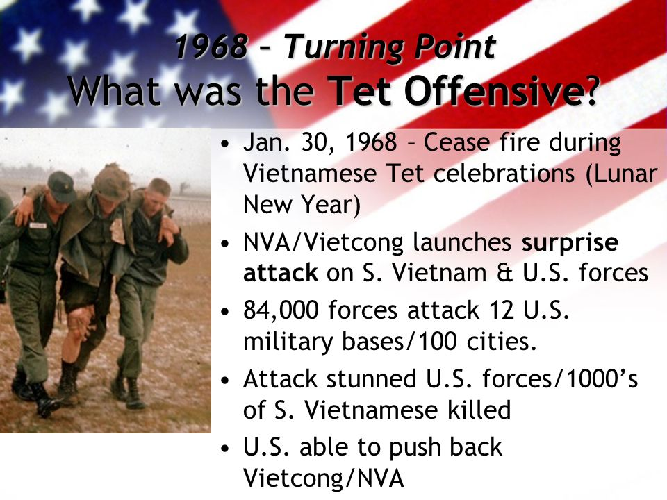 an analysis of the topic of the tet offensive as a major turning point for the vietnam war Negotiations to end the war the term tet offensive usually refers to to mount a major offensive tet: the turning point in the vietnam war.