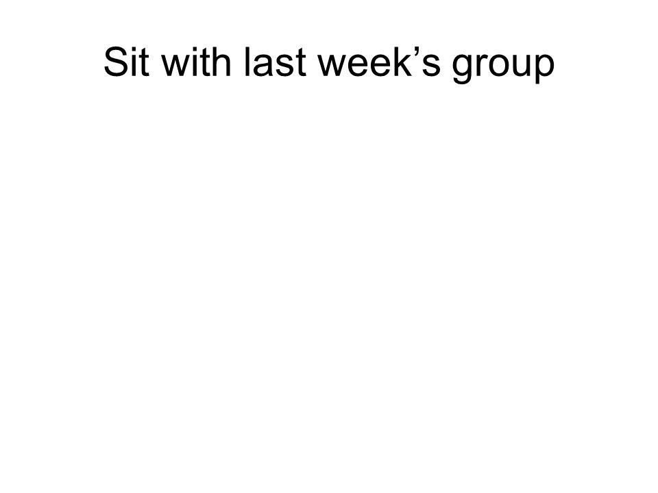 Sit with last week's group. Turn in… Dilutions worksheet. - ppt ...