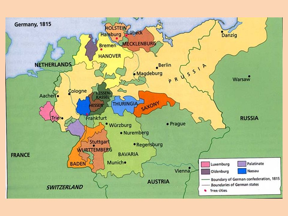 Bismarck And The Unification Of Germany Similarities Between The - Zollverein germany map