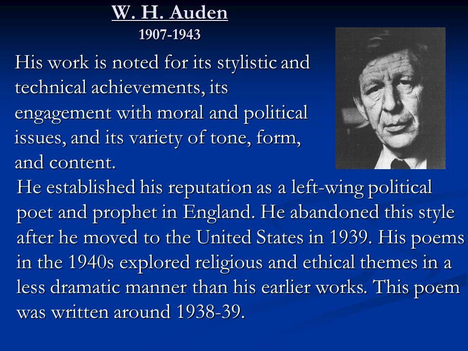 Essays on the unknown citizen by w.h. auden