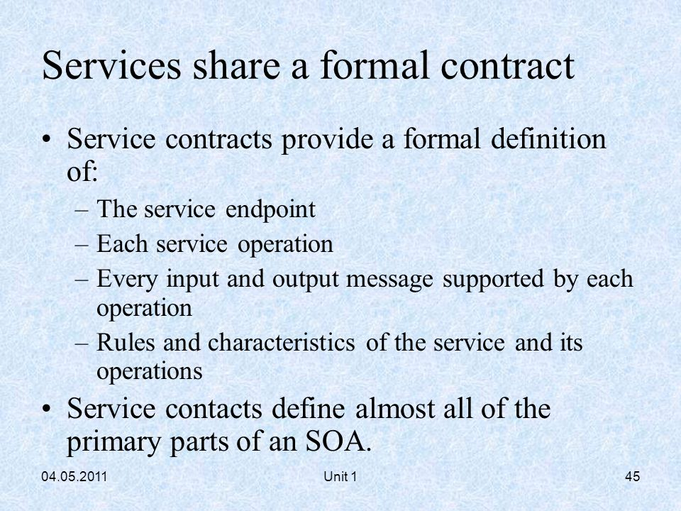 Soa Service Contract Template. using togaf to define govern soas ...