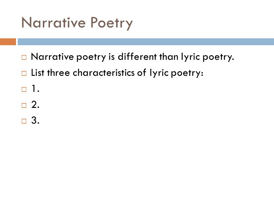 NARRATIVE POETRY Folk ballads and Literary Ballads. - ppt download
