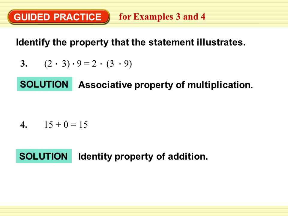 Identify the property that the statement illustrates.