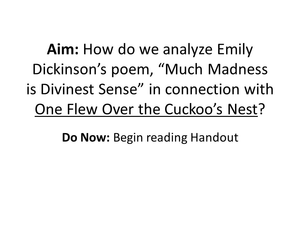 a literary analysis of one flew over the cuckoos nest