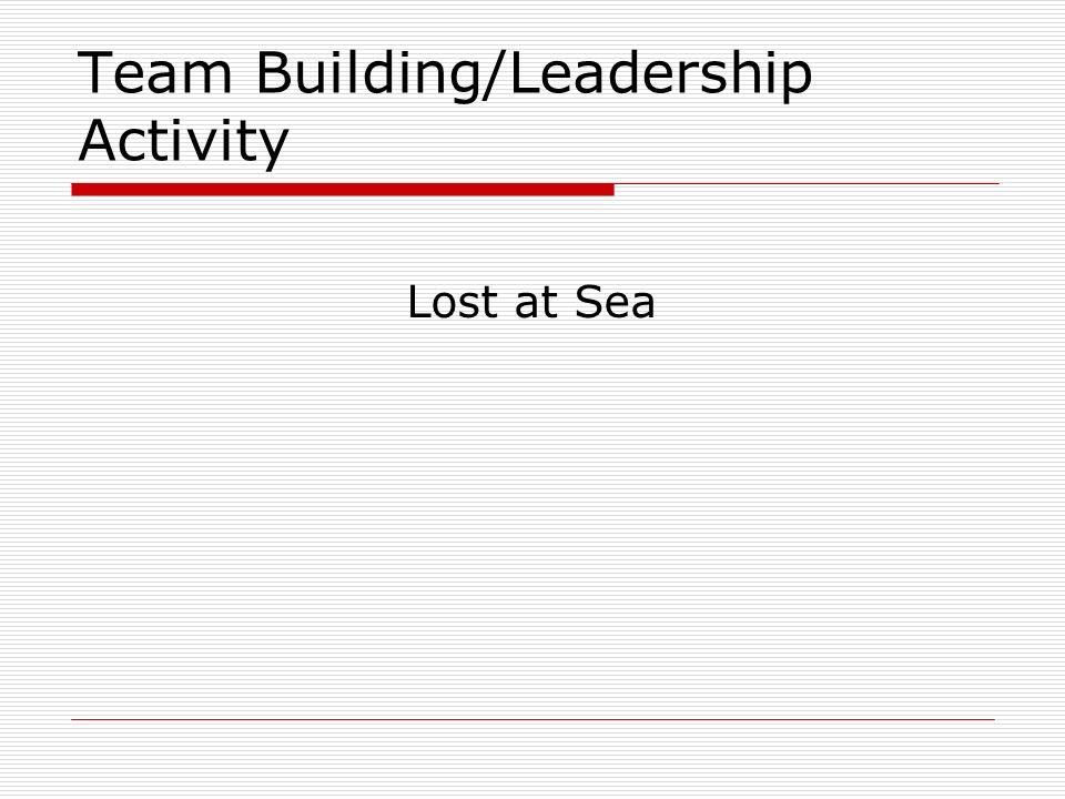 Team Building/Leadership Activity Lost at Sea