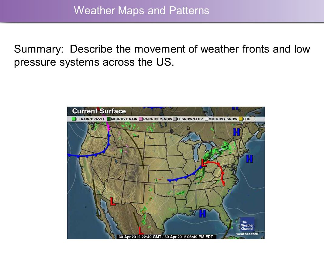 Weather Maps And Patterns Moving Air Creates A Low Pressure System - Us weather map lows