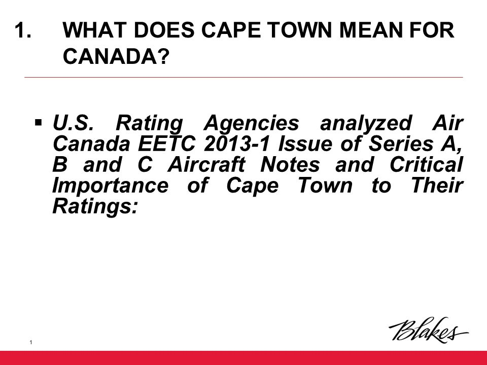 What Does Cape Town Mean For Canada U S