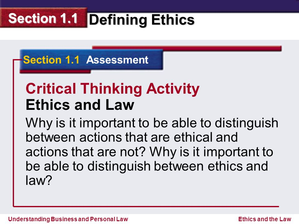 ethical codes and critical thinking