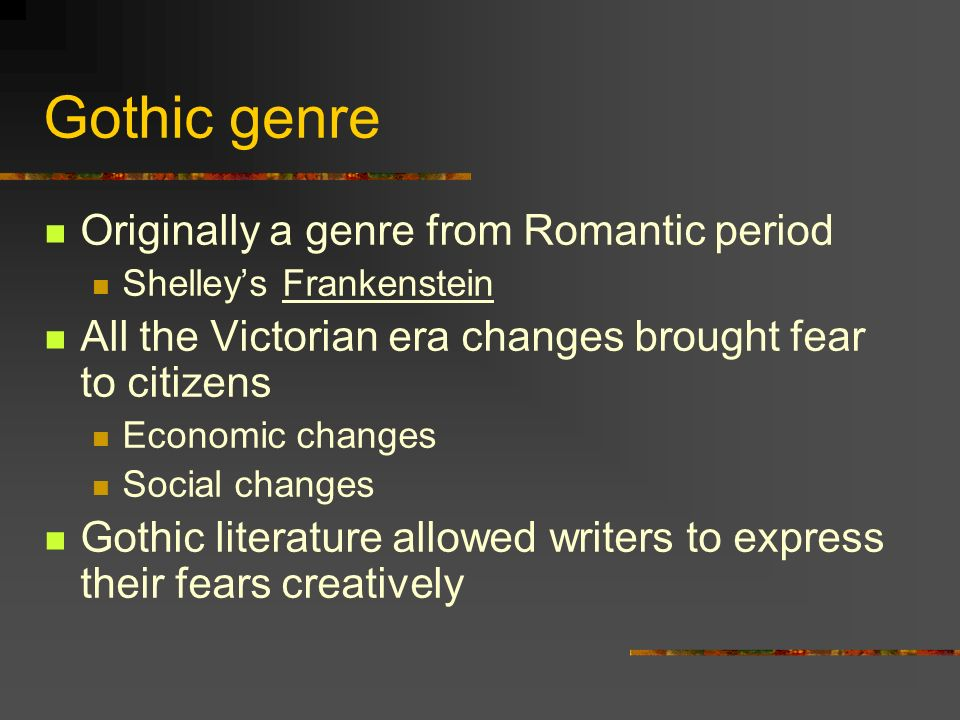 gothic literature and the victorian period british literature, Powerpoint templates