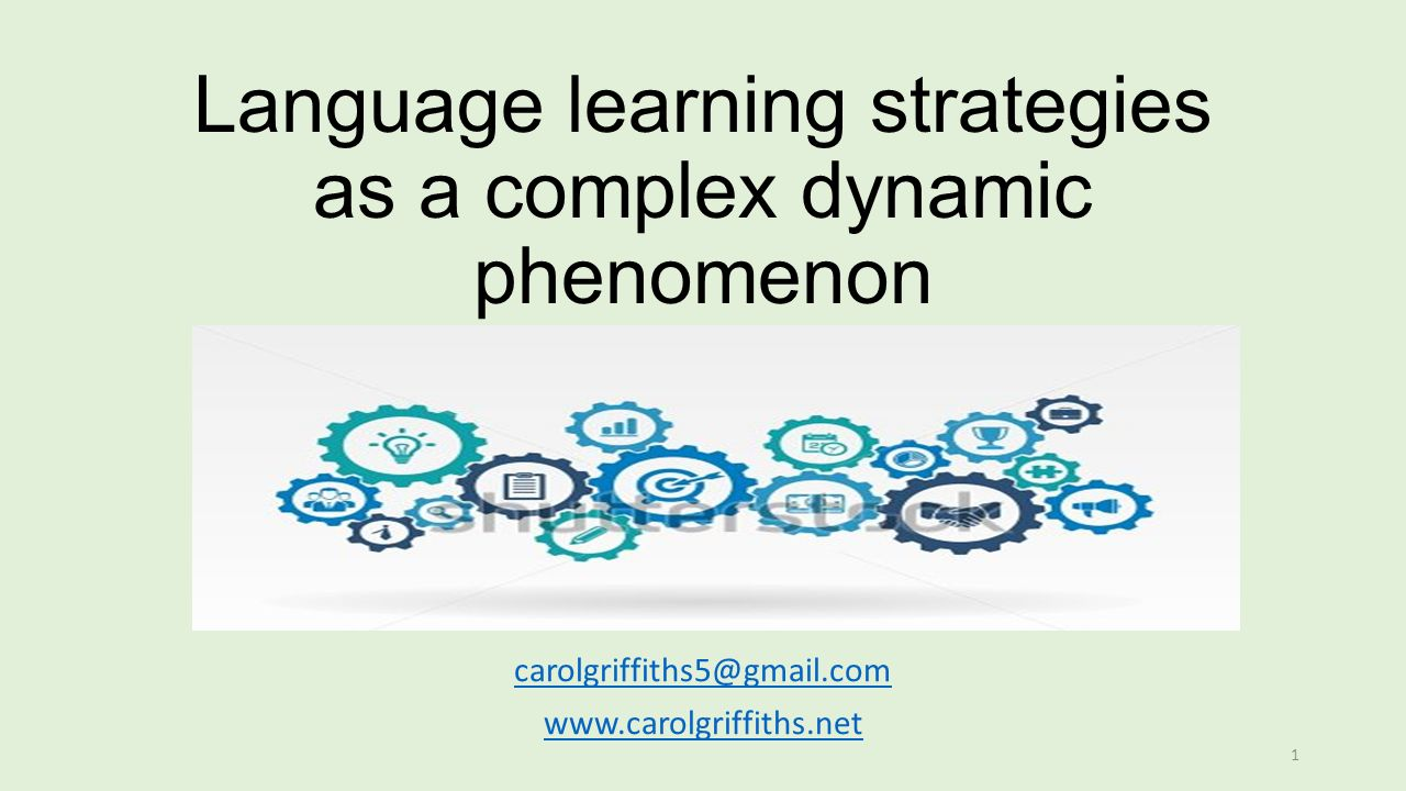 Gmail themes dynamic - 1 Language Learning Strategies As A Complex Dynamic Phenomenon Carol Griffiths Carolgriffiths5 Gmail Com Www Carolgriffiths Net 1